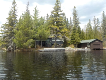 Lots of old cottage dot the shores of Canoe Lake.